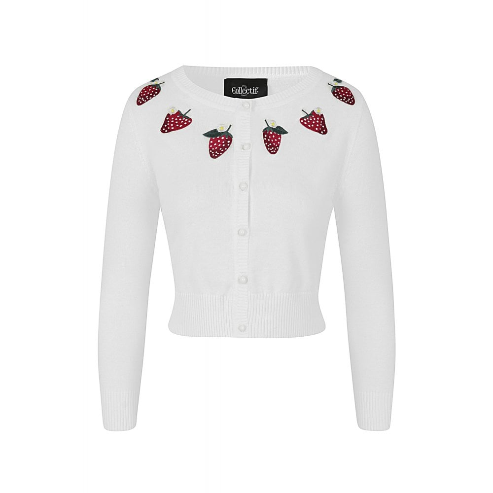COLLECTIF- STRAWBERRY CARDIGAN