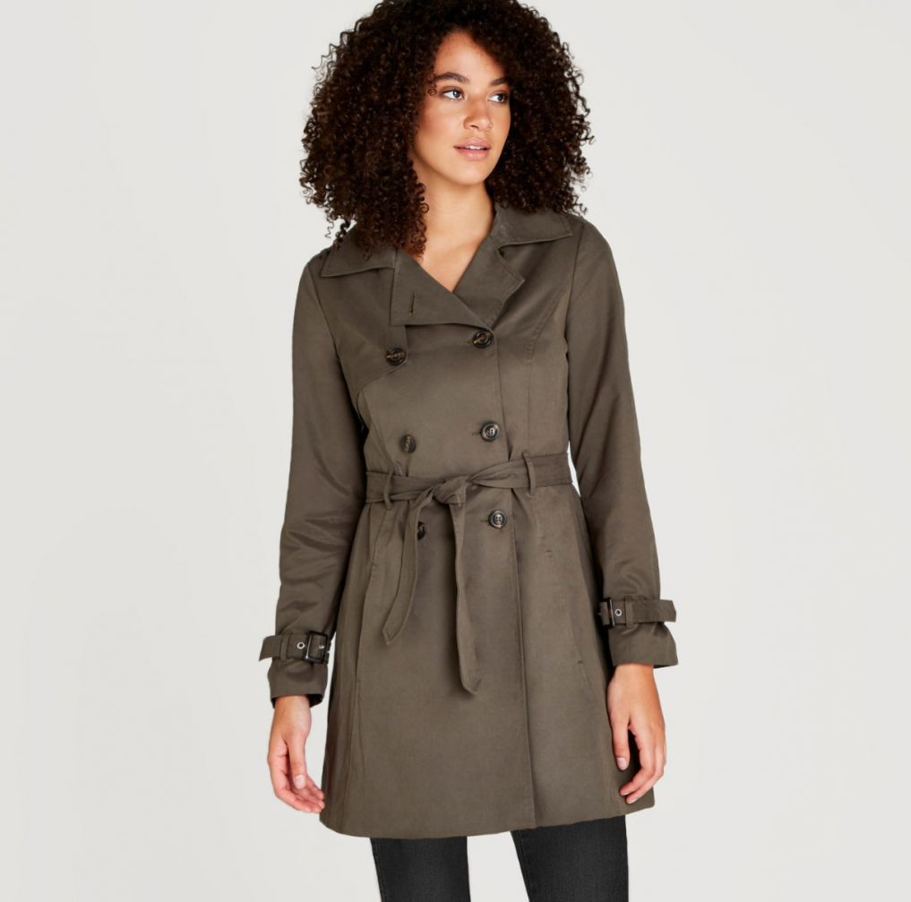 APRICOT- KHAKI TRENCH COAT