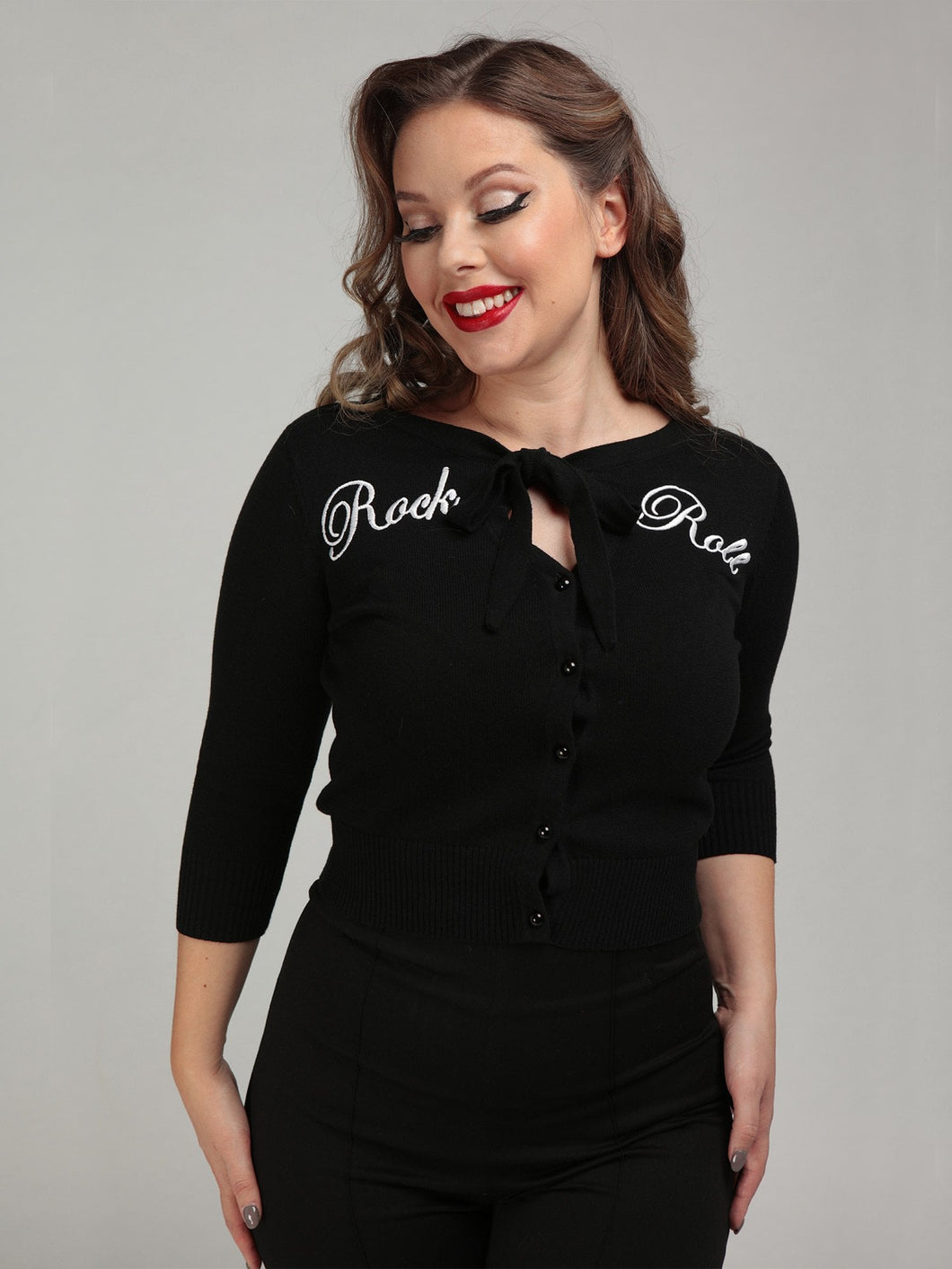 COLLECTIF- ROCK AND ROLL CARDIGAN