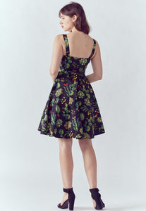 EVA ROSE- SUCCULENT PRINT MIDI DRESS