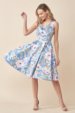 Load image into Gallery viewer, EVA ROSE- LIGHT BLUE FLORAL DRESS