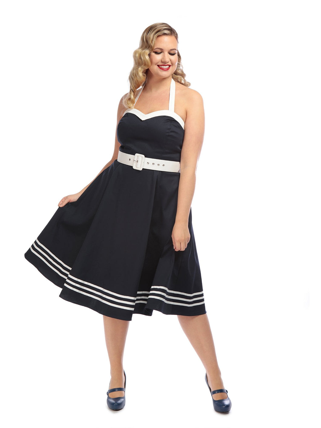 COLLECTIF- NAUTICAL SWING DRESS