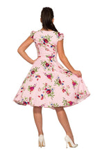 Load image into Gallery viewer, HEART & ROSES- PINK FLORAL SWING DRESS