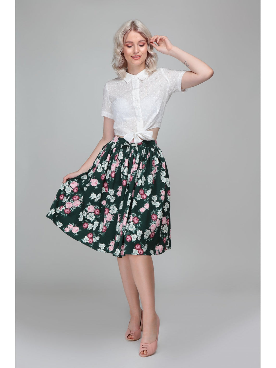 COLLECTIF- BLOOM SWING SKIRT