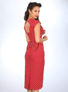 STOP STARING- LOVE RED OR NAVY DOTTED