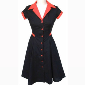 HEART OF HAUTE- BLACK DINER DRESS