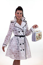 Load image into Gallery viewer, GRACE & GLAM- WHITE RAIN COAT