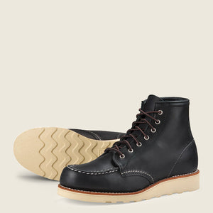 "RED WING- 6"" MOC TOE-BLACK BOUNDRY"