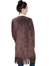 Load image into Gallery viewer, SCULLY- SUEDE FRINGE COAT BLACK OR BROWN
