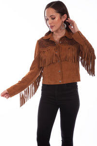 SCULLY- LEOPARD FRINGE SUEDE JACKET