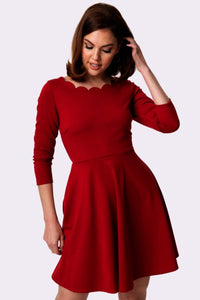 SMAK PARLOUR- CHARMED FIT AND FLARE DRESS