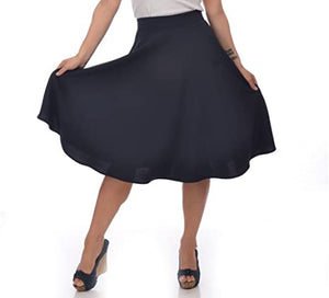 STEADY- HI WAIST CIRCLE SKIRT