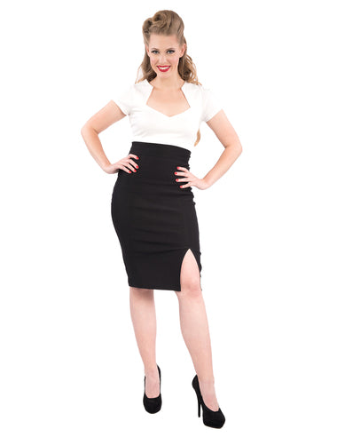 STEADY- CORA PENCIL SKIRT IN BLACK