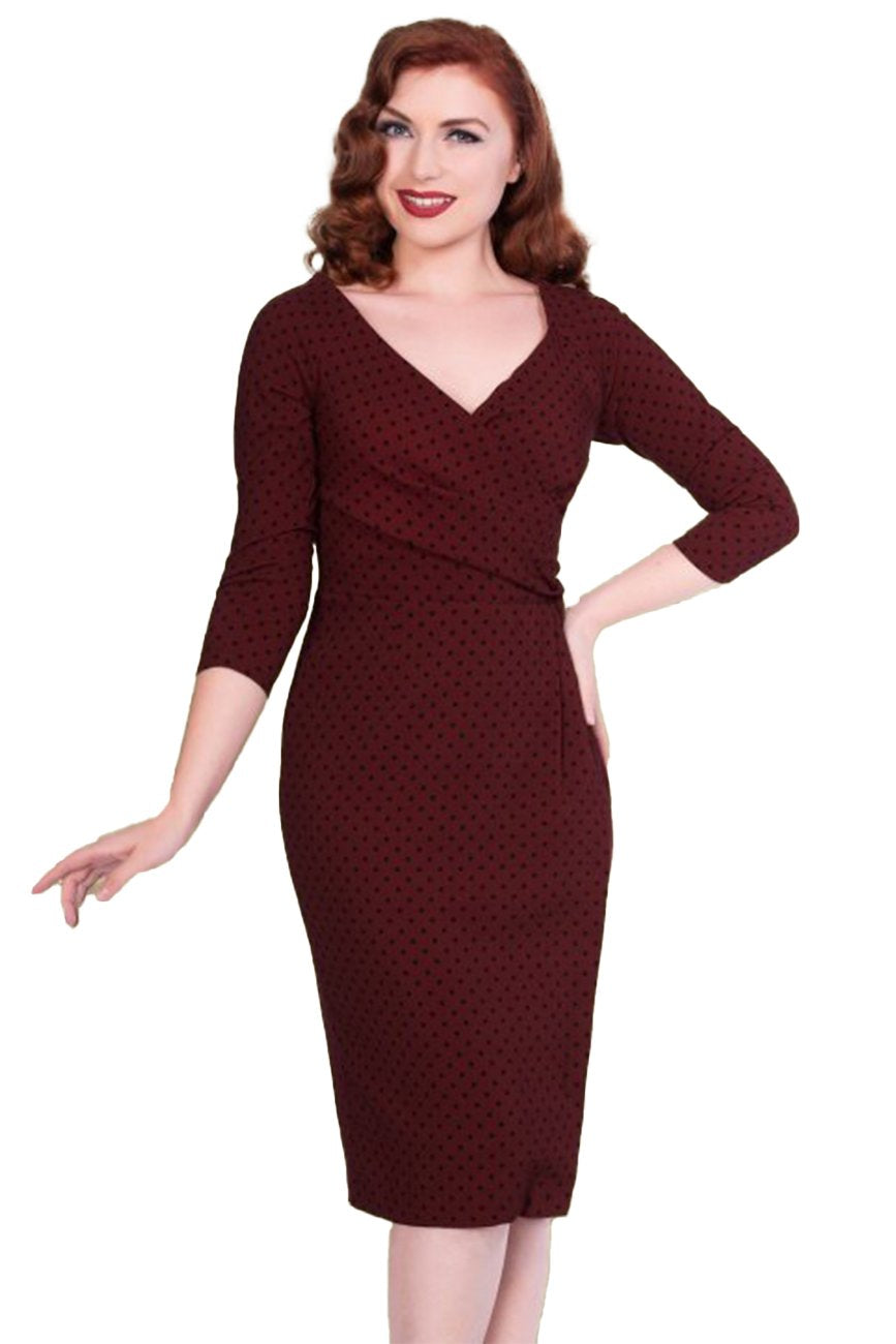TIMELESS SHEEN- KATHERINE FITTED POLKADOT DRESS