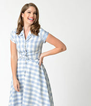 Load image into Gallery viewer, UNIQUE VINTAGE- GINGHAM ALEXIS SWING DRESS