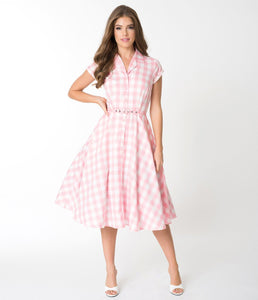 UNIQUE VINTAGE- GINGHAM ALEXIS SWING DRESS