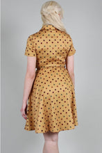 Load image into Gallery viewer, VOODOO VIXEN- DIANA MUSTARD DOT DRESS