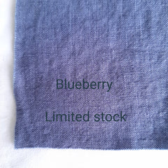 Colour swatch stonewashed linen blueberry limited stock