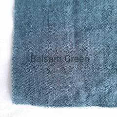 Colour swatch stonewashed linen spa green