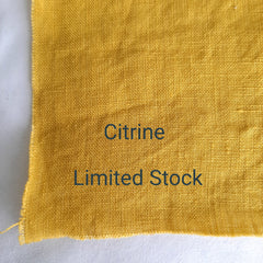 Colour swatch stonewashed linen citrine limited stock
