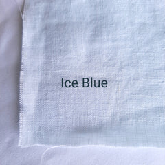 Colour swatch stonewashed linen ice blue