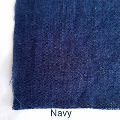 Colour swatch stonewashed linen navy