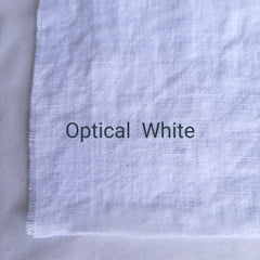 Colour swatch stonewashed linen optical white