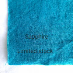 Colour swatch stonewashed linen Sapphire Limited