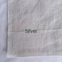 Colour swatch stonewashed linen silver