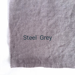 Colour swatch stonewashed linen steel grey