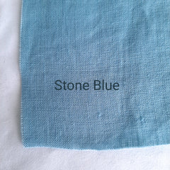 Colour swatch stonewashed linen stone blue