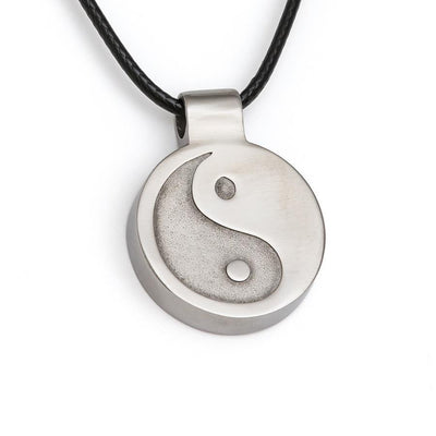 Pendant Nu-Me Skinny Stainless Steel Yin-Yang - Simply Natural Home