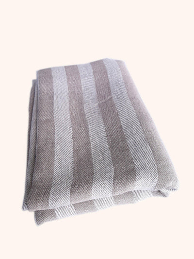 Linen Bath Sheet Natural Striped