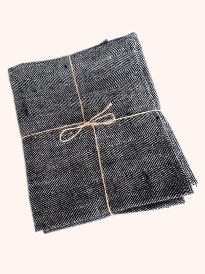 Linen Hand Towel Set Huckaback Chevron - Black-Simply Natural Home. Pure Linen Hand Towel Set of 2 in traditional Huckaback weave. Lightweight, extremely absorbent and great travel towel.