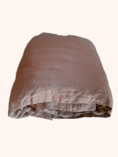 Linen Quilt Cover Natural folded