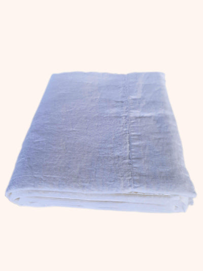 Linen Flat Sheet Off White