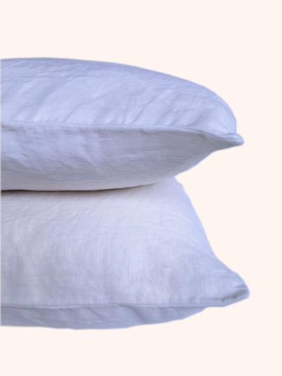 Linen Pillow Case Set Off White