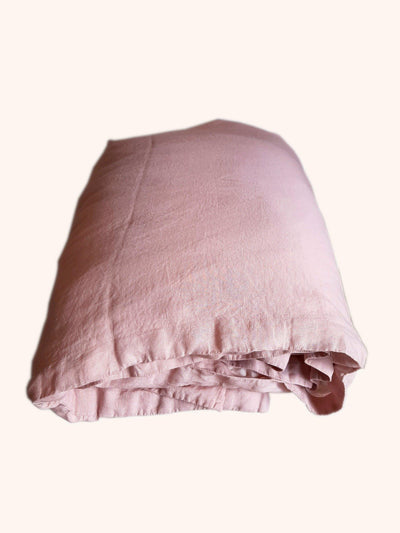 Linen Quilt Cover Blush Rose