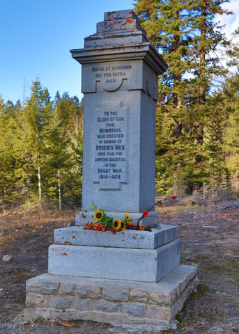 Cenotaph at Phoenix Mountain - Greenwood BC