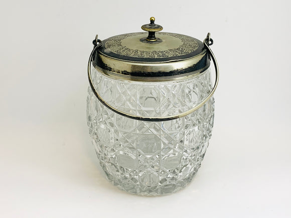 1880-90's Daniel & Arter Victorian Glass Biscuit Barrel