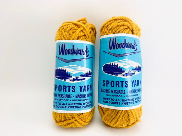 Vintage Woodward's Sports Yarn - Golden Acrylic