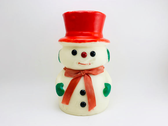 SOLD! 1970's Large Snowman Christmas Candle