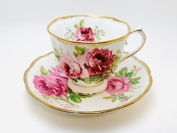 Vintage Royal Albert American Beauty Teacup and Saucer
