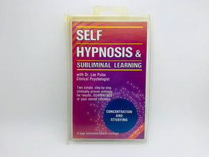 1983 Self Hypnosis & Subliminal Learning Cassette