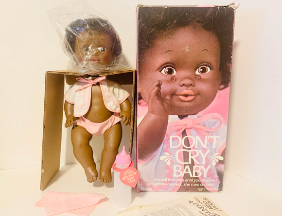 1976 Hasbro Don't Cry Baby Doll New in Box with Accessories