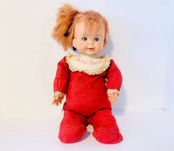 1965 Mattel Baby Secret Talking Doll 17""