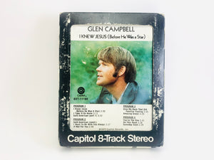 Glen Campbell, I Knew Jesus (Before He Was a Star) 8 Track Stereo Tape
