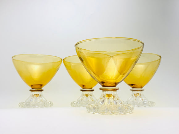 1941-68 Anchor Hocking Berwick Amber Glasses