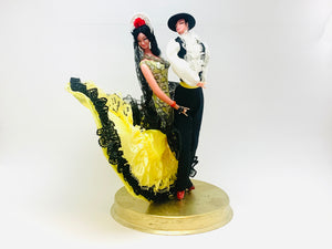 1970's Marin Chiclana Plastic Flamenco Dancer Dolls