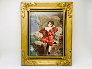 Vintage Master Lambton The Red Boy, Sir Thomas Lawrence Wood and Plaster Framed Print